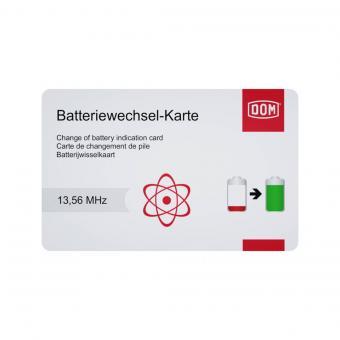 DOM ENIQ Batteriewechselkarte